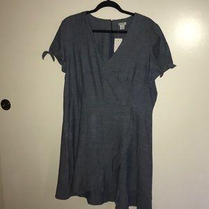 Chambray J. Crew Faux-wrap Dress NWT